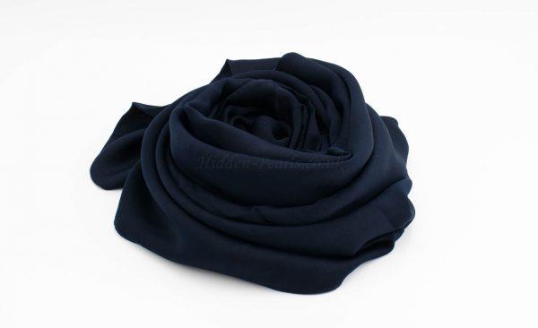 Deluxe Plain Hijab - Navy Blue - Hidden Pearls