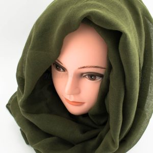 Everyday Plain Hijab - Army Green - Hidden Pearls