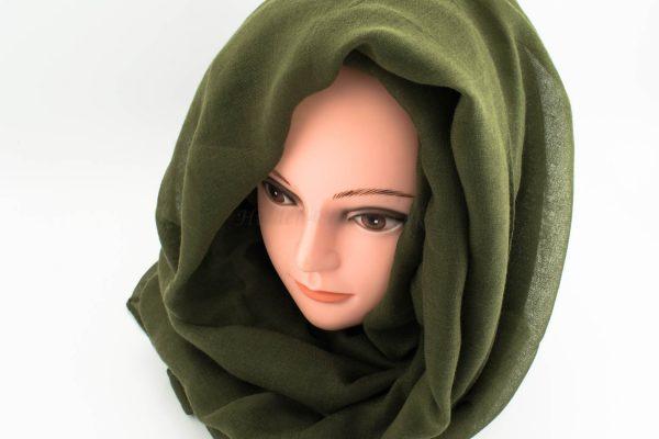Everyday Plain Hijab - Army Green - Hidden Pearls