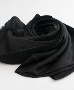 Maxi Plain Hijabs - Hidden Pearls- Black