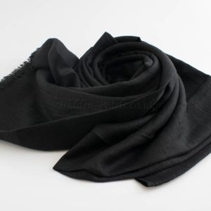 Deluxe Plain Hijabs - Hidden Pearls- Black