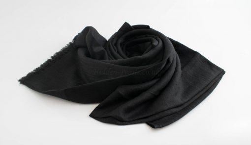 Maxi Plain Hijabs - Hidden Pearls- Black