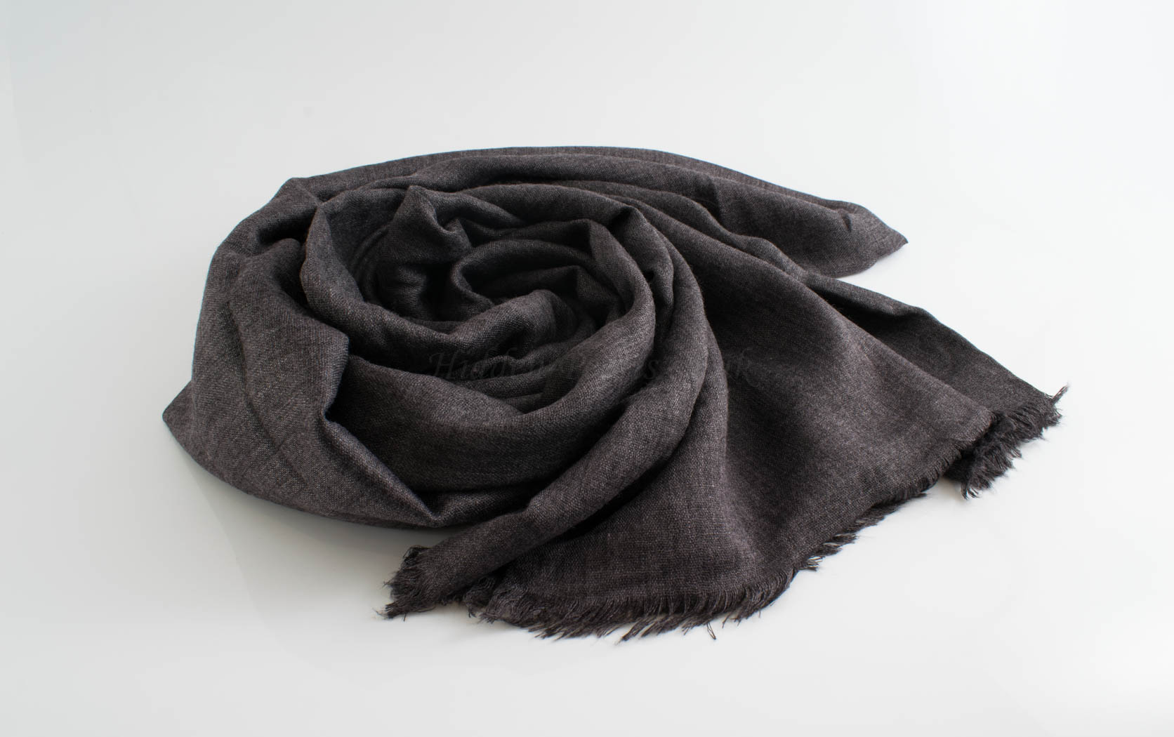 Deluxe Plain Hijabs - Hidden Pearls - Dark Grey