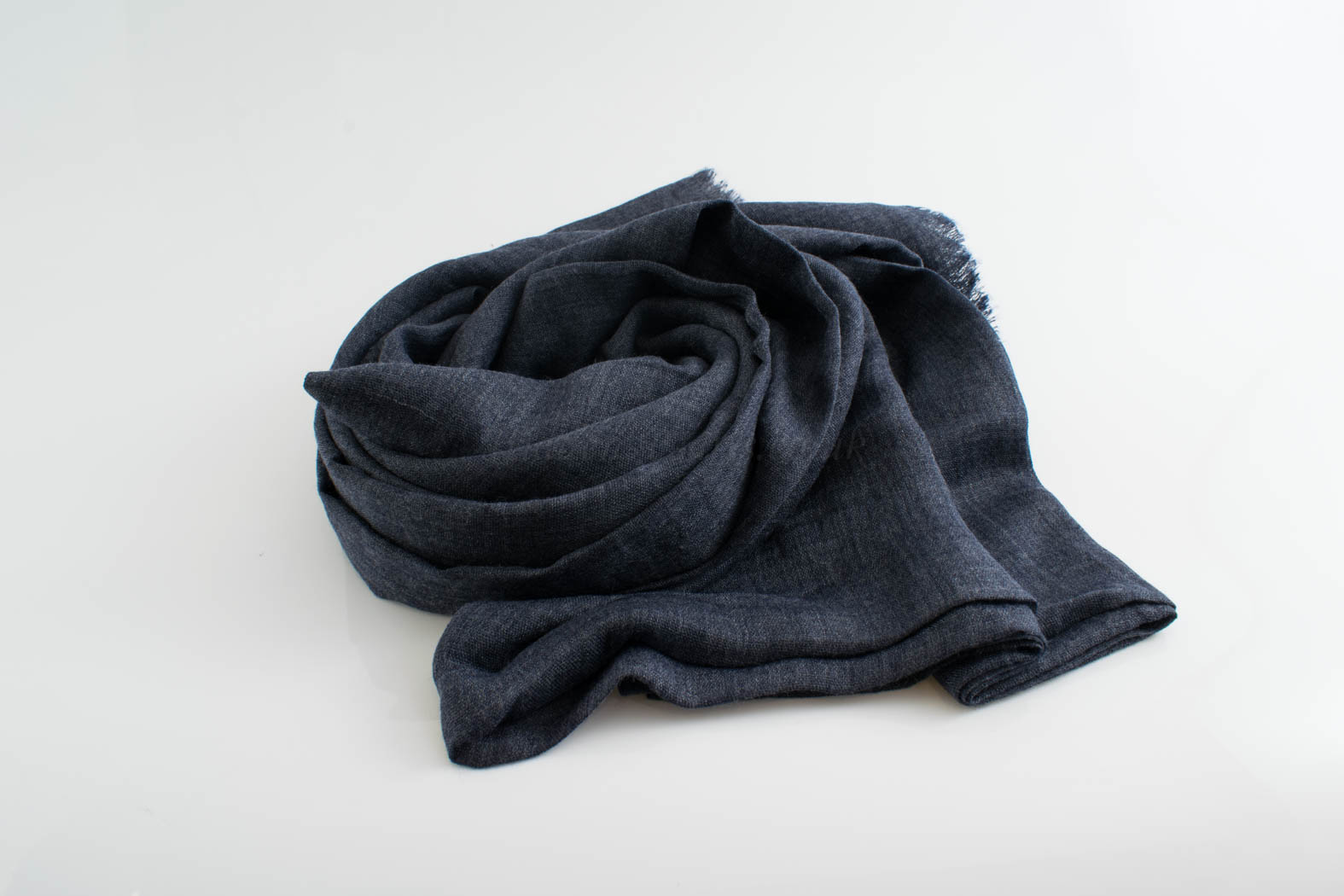 Deluxe Plain Hijabs - Hidden Pearls - Denim Blue