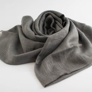 Deluxe Plain Hijabs - Hidden Pearls - Light Grey