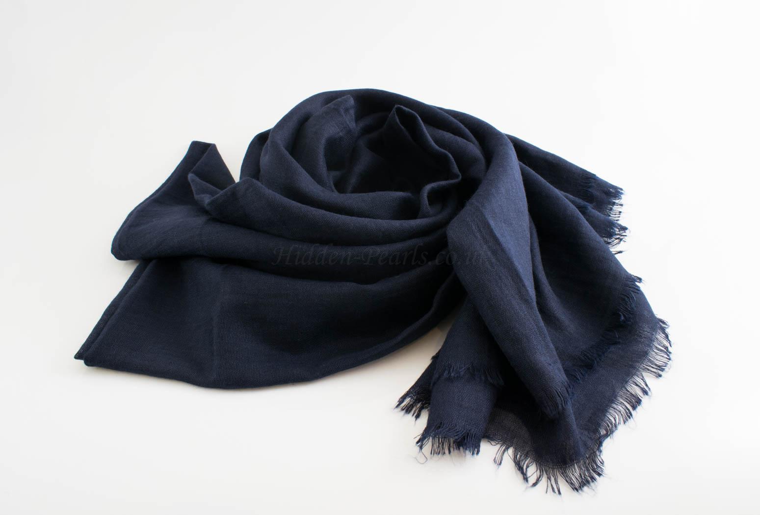 Deluxe Plain Hijabs - Hidden Pearls - Midnight BlueDeluxe Plain Hijabs - Hidden Pearls - Navy Blue