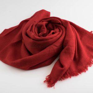 Deluxe Plain Hijabs - Hidden Pearls - Red