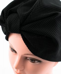 Check Style Turban - Black - Hidden Pearls