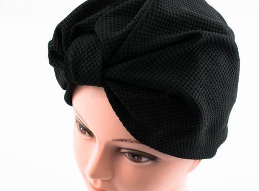 Check Style Turban - Black - Hidden Pearls