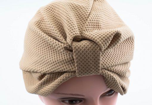 Check Style Turban - Honey - Hidden Pearls