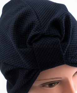 Check Style Turban - Midnight Blue - Hidden Pearls