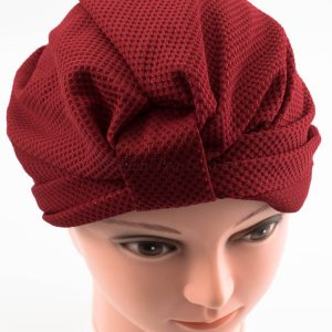 Check Style Turban - Rosewood - Hidden Pearls