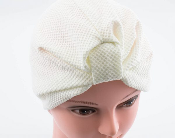 Check Style Turban - White - Hidden Pearls