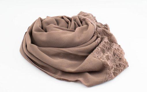 Chiffon Lace Hijab - Mauve - Hidden Pearls