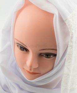 Chiffon Lace Hijab - White- Hidden Pearls