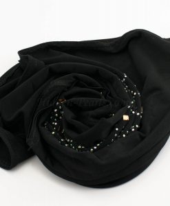 Children's Gem Hijab - Black - Hidden Pearls