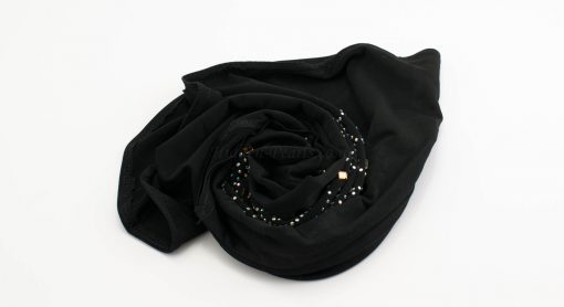 Children's Gem Hijab - Black - Hidden Pearls