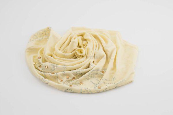 Children's Gem Hijab - Cream - Hidden Pearls