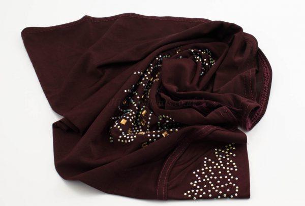 Children's Gem Hijab - Maroon - Hidden Pearls