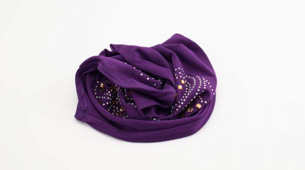 Children's Gem Hijab - Purple - Hidden Pearls