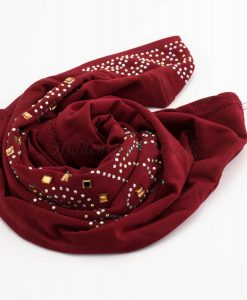 Children's Gem Hijab - Red - Hidden Pearls