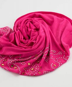 Children's Gem Hijab - Shocking Pink - Hidden Pearls