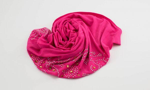 Children's Gem Hijab - Shocking Pink - Hidden Pearls