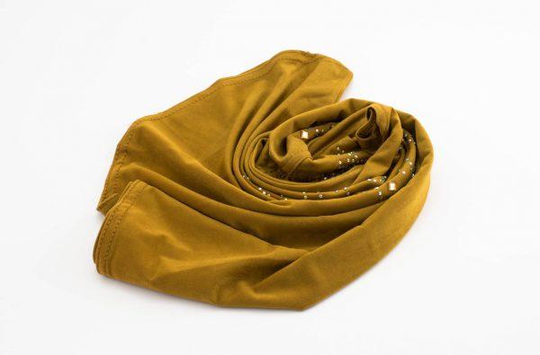 Children's Gem Hijab - Tan Brown - Hidden Pearls