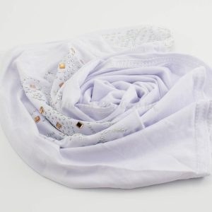 Children's Gem Hijab - White - Hidden Pearls