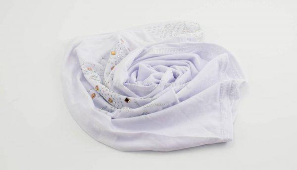 Children's Gem Hijab - White - Hidden Pearls
