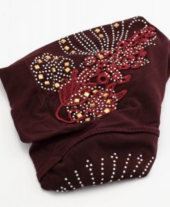 Children's Gem and Flower Patch - Maroon - Hidden Pearls