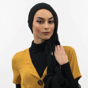 Crinkle Chiffon Hijab Black Website