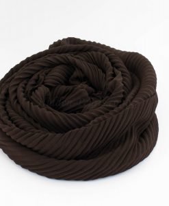 Crinkle Chiffon Hijab - Chocolate 2 - Hidden Pearls