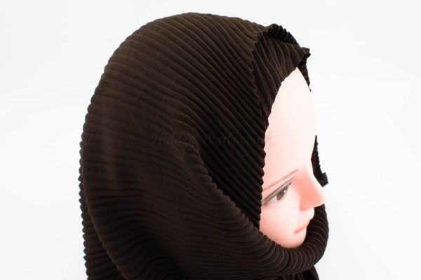 Crinkle Chiffon Hijab - Chocolate - Hidden Pearls