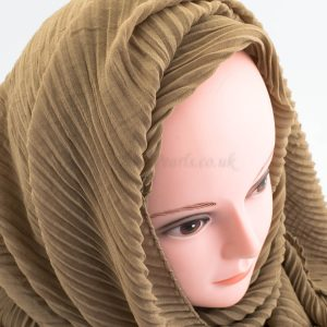 Crinkle Chiffon Hijab - Coffee - Hidden Pearls
