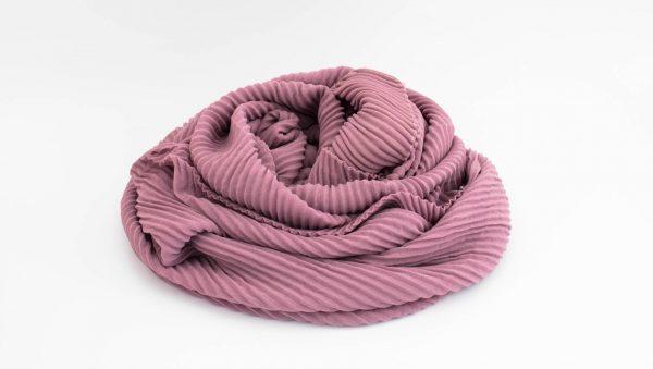 Crinkle Chiffon Hijab - Dusky Pink 2 - Hidden Pearls