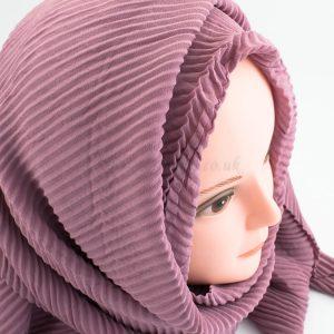 Crinkle Chiffon Hijab - Dusky Pink - Hidden Pearls
