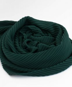 Crinkle Chiffon Hijab - Forest Green 2 - Hidden Pearls