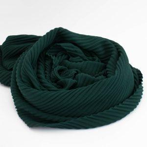 Crinkle Chiffon Hijab - Forest Green 2 - Hidden Pearls
