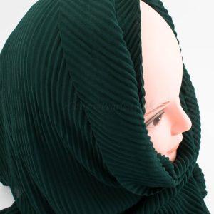Crinkle Chiffon Hijab - Forest Green - Hidden Pearls