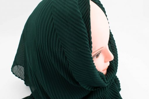 Crinkle Chiffon Hijab - Forest Green - Hidden Pearls