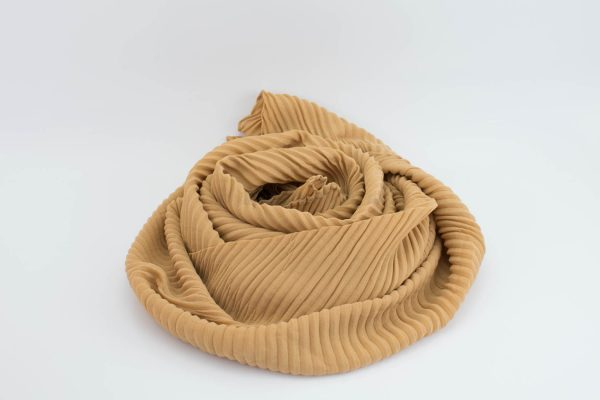 Crinkle Chiffon Hijab - Golden Beige 2 - Hidden Pearls
