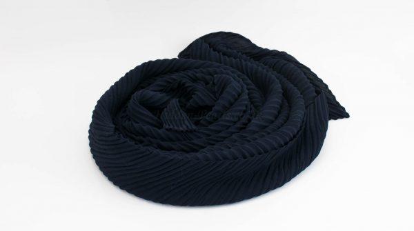 Crinkle Chiffon Hijab - Midnight Blue 2 - Hidden Pearls