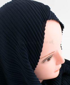 Crinkle Chiffon Hijab - Midnight Blue - Hidden Pearls