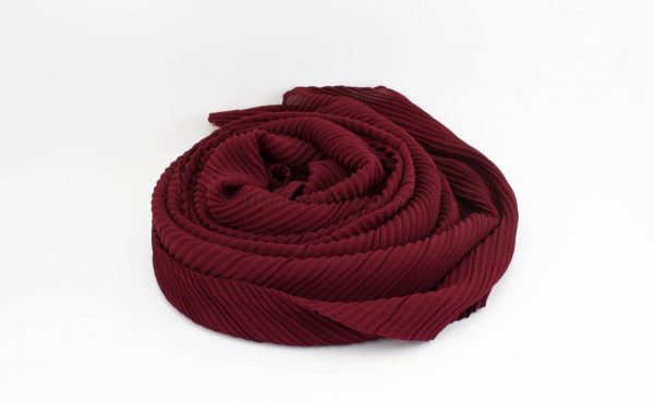 Crinkle Chiffon Hijab - Rosewood 2 - Hidden Pearls