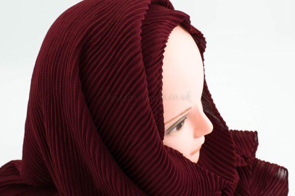 Crinkle Chiffon Hijab - Rosewood - Hidden Pearls