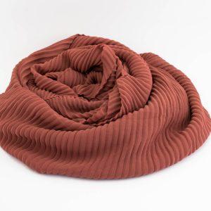 Crinkle Chiffon Hijab - Rust 2 - Hidden Pearls