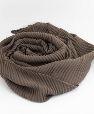 Crinkle Chiffon Hijab - Taupe Brown 2 - Hidden Pearls