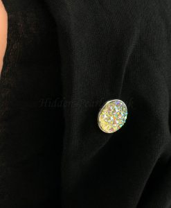 Sparkle Magnetic Hijab Pin - Silver - Hidden Pearls