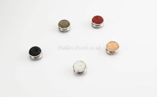 Magnetic Glitter Hijab Pin - Black - Hidden Pearls